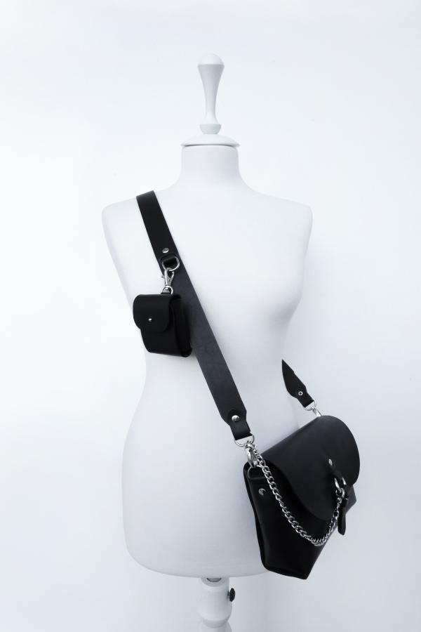 Сумочка Элара с кармашком (черная)