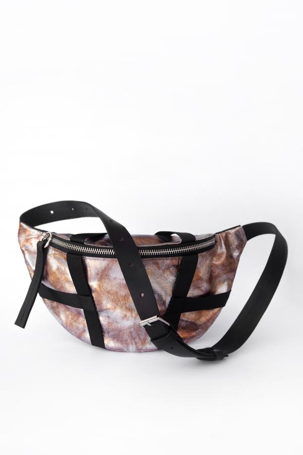 Поясная сумка Самурай (ржавое серебро)
